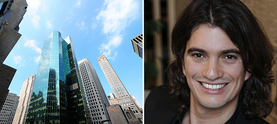 From left: Tower 49 and WeWork's Adam Neumann