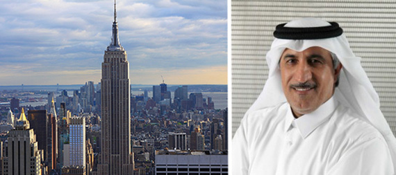 From left: the Empire State Building and Abdullah bin Mohammed Al Thani