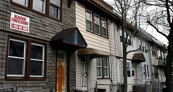A home in Jamaica, Queens awaiting foreclosure (credit: Ron Antonelli/NY Daily News Archive via Getty Images)