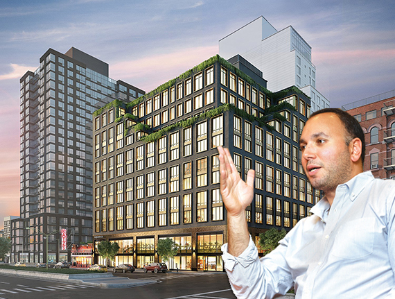 Rendering of 196 Orchard Street and Ben Shaoul (credit: Michael McWeeney)