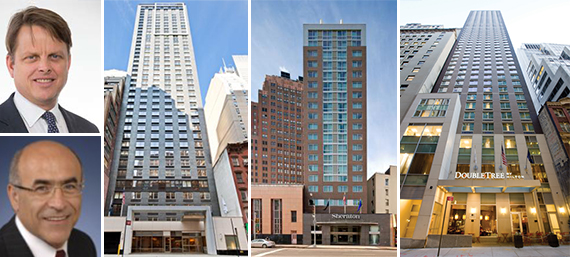 From Left: 311 West 39th Street, 372 Canal Street and 8 Stone Street(inset from top: T. Wilson Eglin and Steve Gozini)