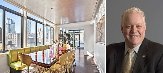 From left: the penthouse (credit: Douglas Elliman) and Al Kahn