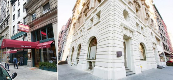 The old location of Union Square Cafe and Nobu at its current Tribeca location