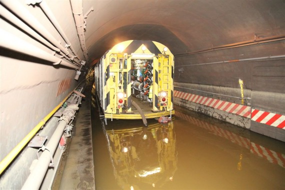 Flooding in the New York City Subway due to Hurricane Sandy (credit: vcohen)