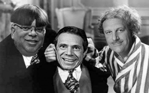 From left: John Banks, Andrew Cuomo and Gary LaBarbera