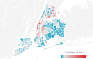 A map of NYC neighborhoods that are better for buying than renting (credit: StreetEasy)