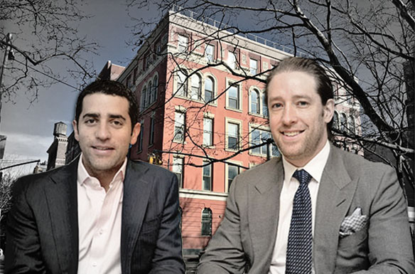 From left: Slate's Martin Nussbaum and David Schwartz and Rivington House at 45 Rivington Street