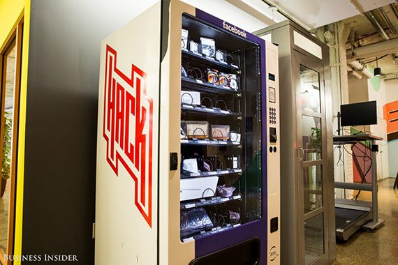 Employees can also hit up this free vending machine if they ever need batteries, a new mouse, or a new keyboard. (credit: Sarah Jacobs via Business Insider)
