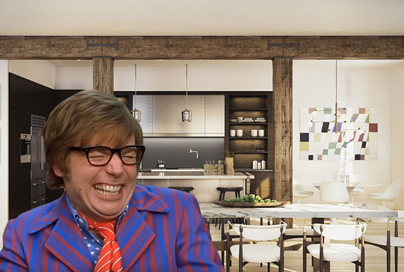 Mike Myers and 443 Greenwich (credit: KC Medien/Moving Pictures/Eric's Boy and StreetEasy)