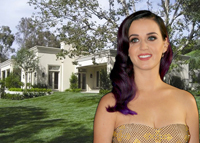 Katy Perry and her new $19 million pad (credit: Eva Rinaldi via Wikimedia and Zillow)