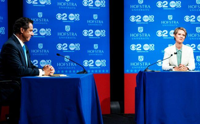 Actress Nixon, political vet Cuomo square off in NY primary debate