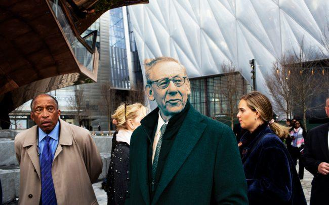 Stephen Ross at the opening of the Hudson Yards