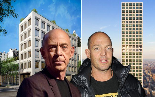 From left: 116 University Place, J.K. Simmons, Alex von Furstenburg and 432 Park Avenue (Credit: Streeteasy and Getty Images)