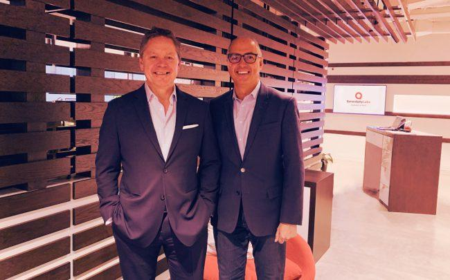 Newable Flexible Workspace's Brett Million and Serendipity Labs CEO John Arenas