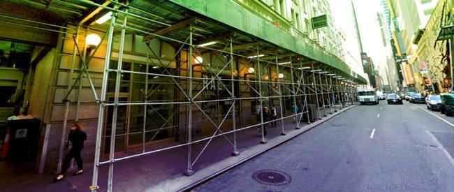 Street view of the retail space at 229 West 43rd Street (Credit: Google Maps)