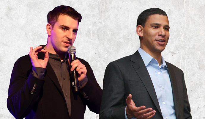 Airbnb CEO Brian Chesky and Compass CEO Robert Reffkin