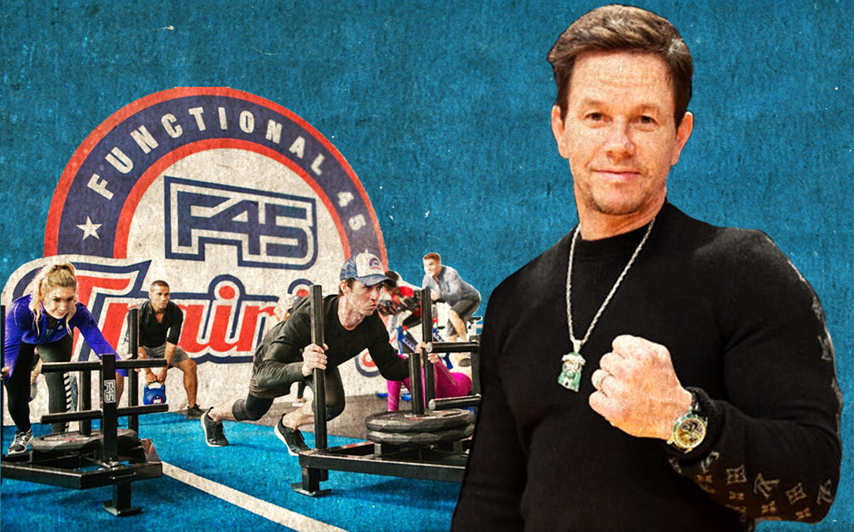 Mark Wahlberg and an F45 gym location (Getty, F45)