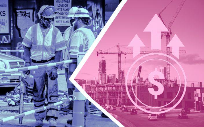 A new report shows that construction costs have kept rising during the pandemic but that unemployment in the industry, which spiked early, has recovered somewhat. (Getty; iStock)