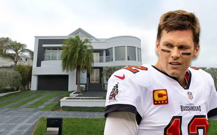 Tom Brady and the home (Credit: James Gilbert/Getty Images, and Google Maps)