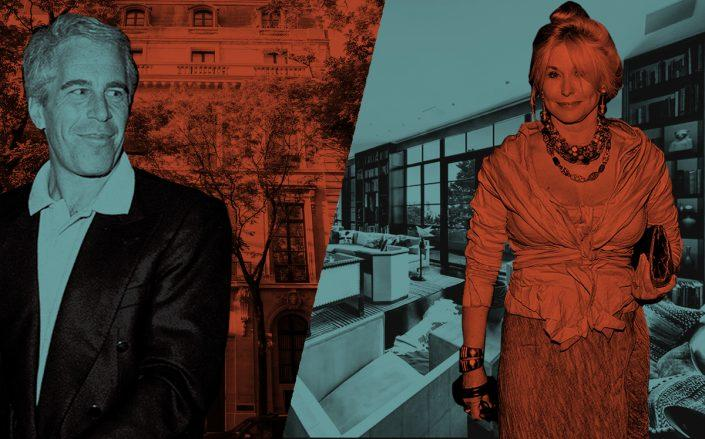 Jeffrey Epstein with 9 East 71st Street and Courtney Ross with her penthouse at 7 Hubert Street (Getty)