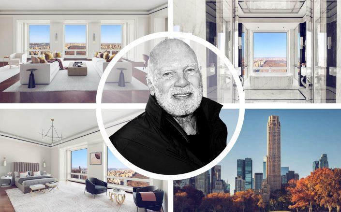 Unit 55B Central Park South and Steve Roth of the Vornado Realty Trust.  (Compass, Vornado, Getty)