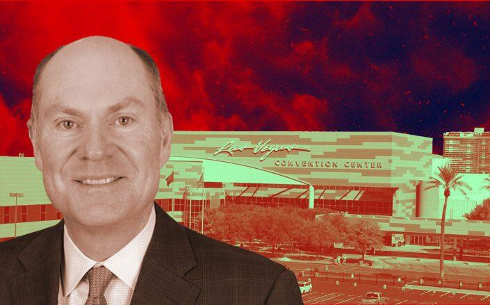 ICSC President Tom McGee and the Las Vegas Convention Center (ICSC, Wikimedia)