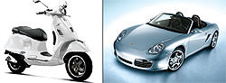 Lifesaver Lofts is offering brokers a chance to win a Vespa, while 55 Thompson is offering a one-year lease on a Porsche Boxster.